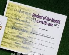 Student Of The Month Stock Certificate