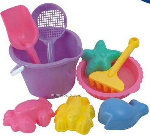 9 Piece Beach Bucket Set Toy