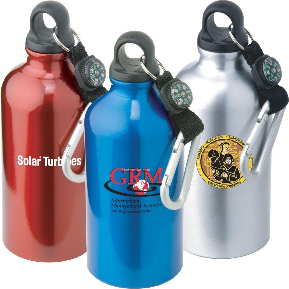 Click N Go Aluminum Sport Bottle W/ Carabiner