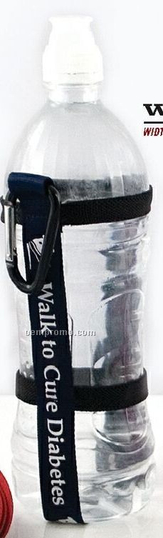 """3/4"""" Harnessed Water Bottle Strap With Carabiner & 10 Day Shipping"""