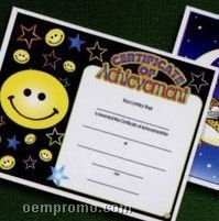 Achievement Stock Certificate With Smiley Face