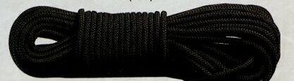 Black General Purpose Military Utility Rope (100')