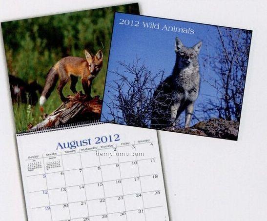 Wild Animals Wall Calendar (January - April)