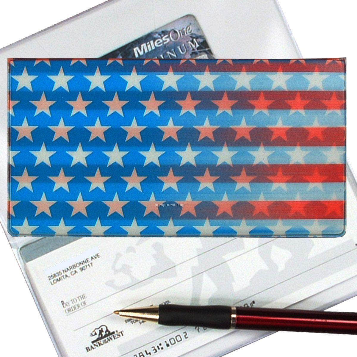 3d Lenticular Checkbook Cover (Stars & Stripes)