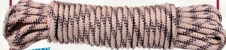 Desert Beige Camouflage General Purpose Military Utility Rope (100')