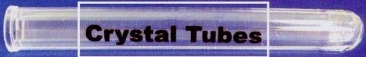 "Imprinted Crystal Stock Test Tubes (6"")"