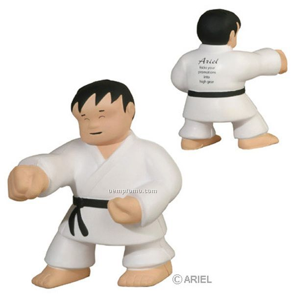 Karate Man Squeeze Toy
