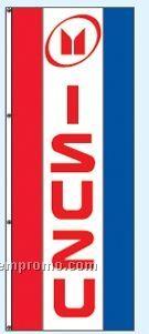 Single Face Dealer Interceptor Drape Flags - Isuzu