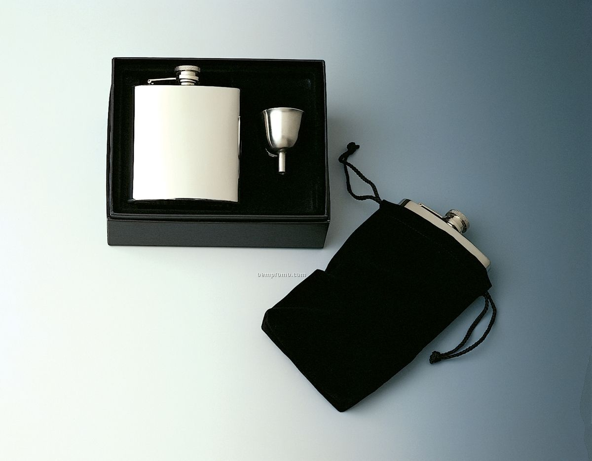 Captive Top Pocket Flask Gift Set