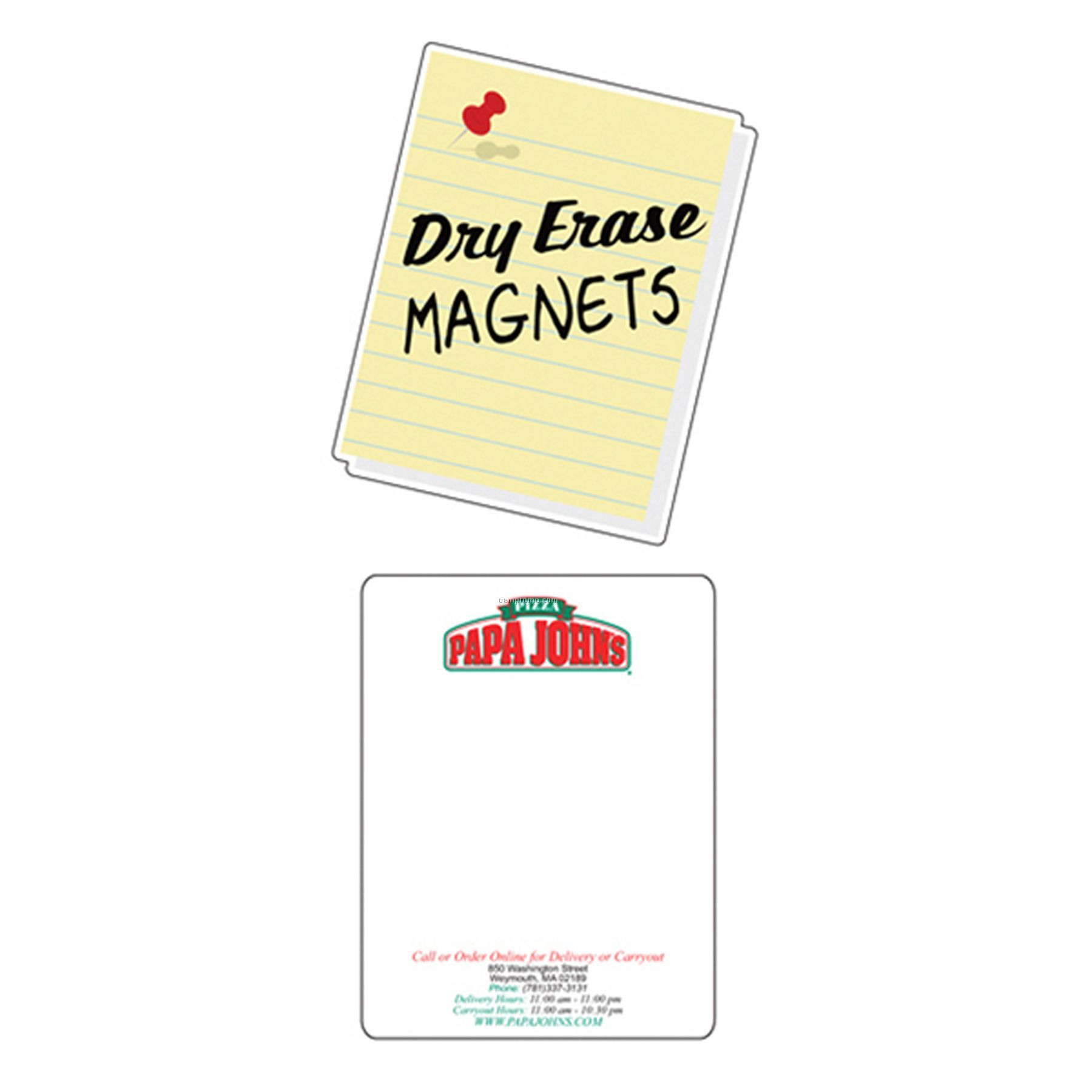 Dry Erase Rectangle Magnet (8