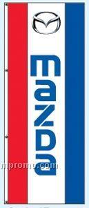Single Face Dealer Interceptor Drape Flags - Mazda