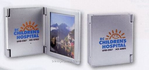 Trifold Alarm Clock With Picture Frame