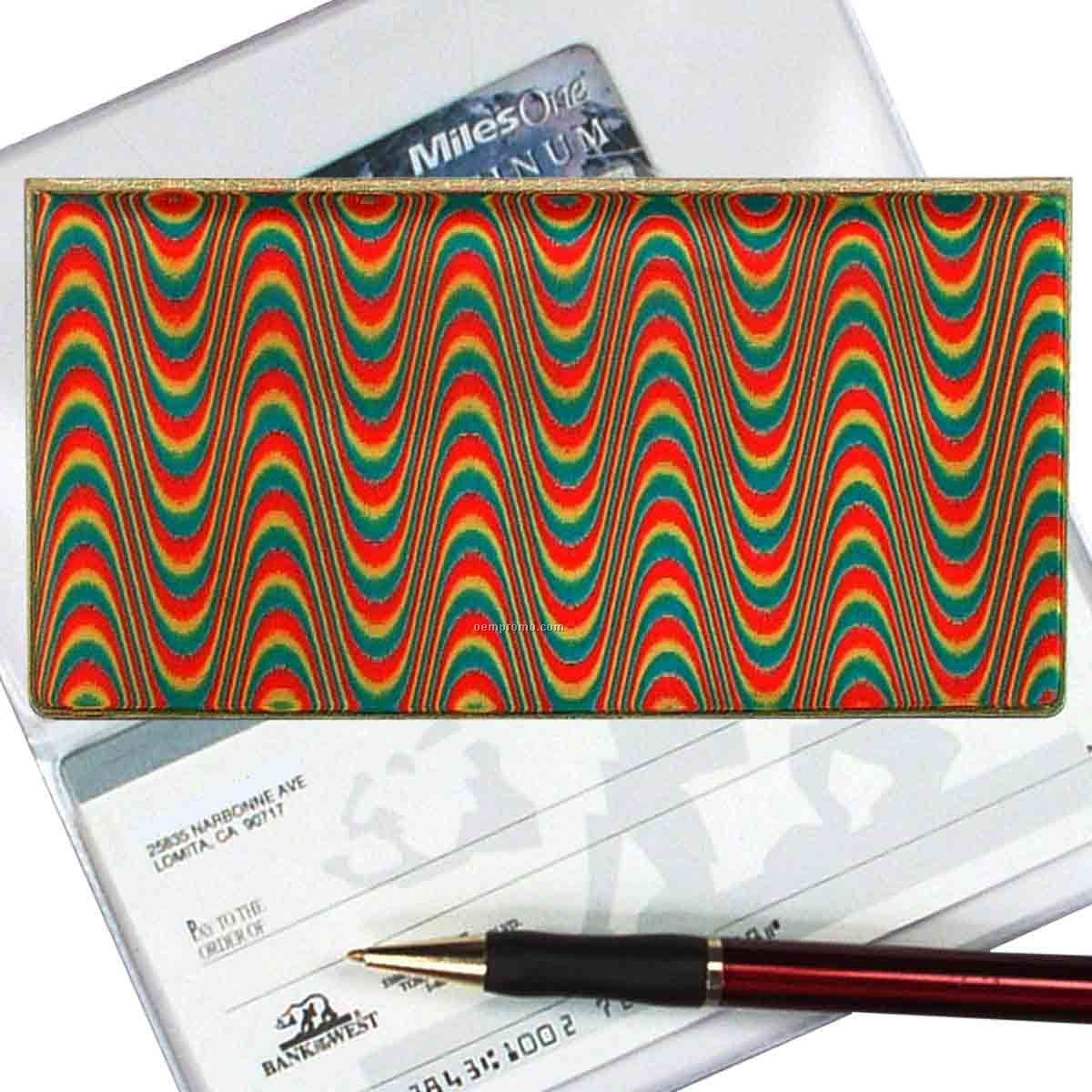 3d Lenticular Checkbook Cover (Wave Pattern)