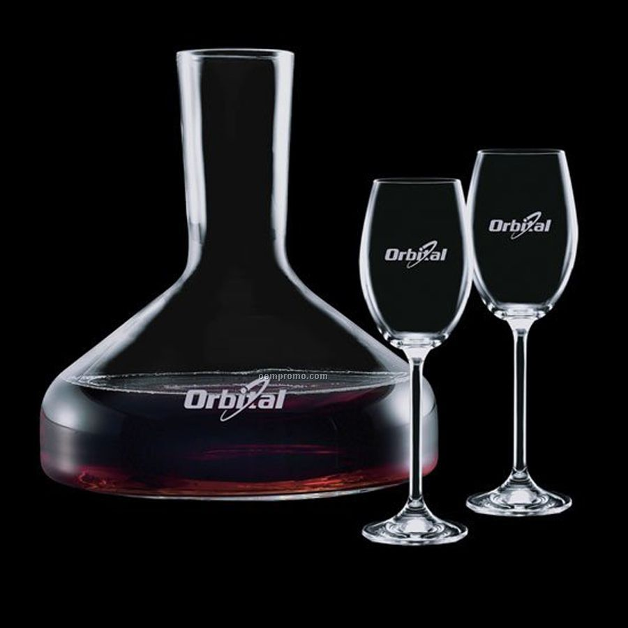 42 Oz. Oakland Carafe With 2 Wine Glasses