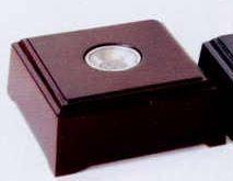 """LED Lighting Mahogany Wood Trapezoid Prism Base (2-1/4""""X5"""")"""