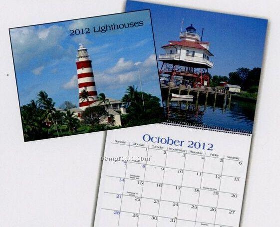 Lighthouses Wall Calendar (January - April)