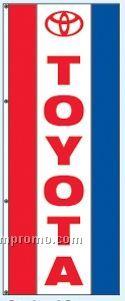 Single Face Dealer Interceptor Drape Flags - Toyota