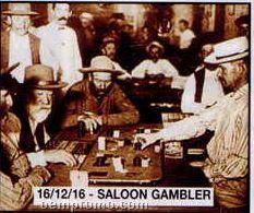 """11""""X14"""" Early American Tin Type Print - Saloon Gambler"""