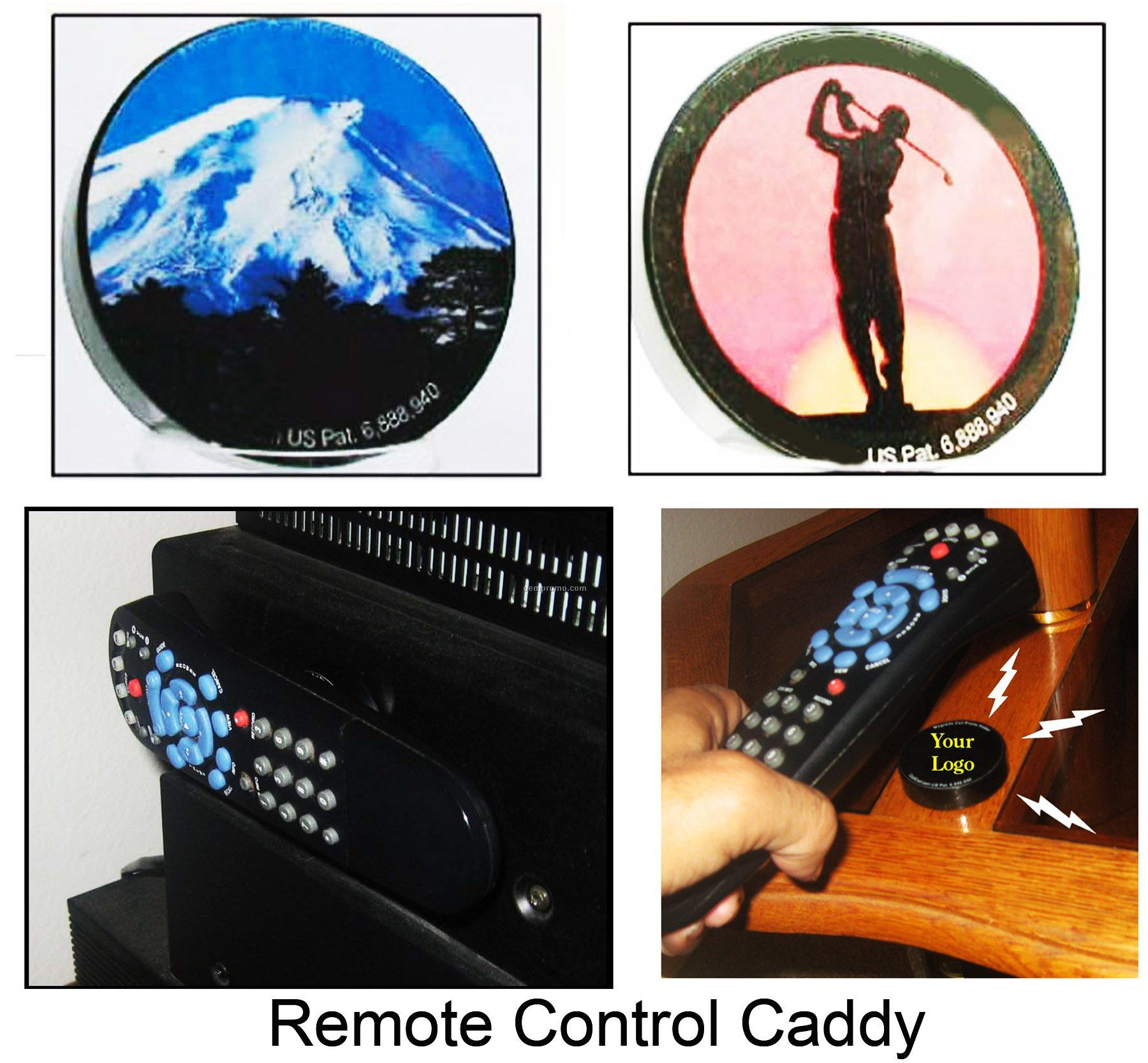 Magnetic Remote Control Caddy