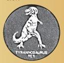Stock Tyrannosaurus Token (900 Zinc Size)