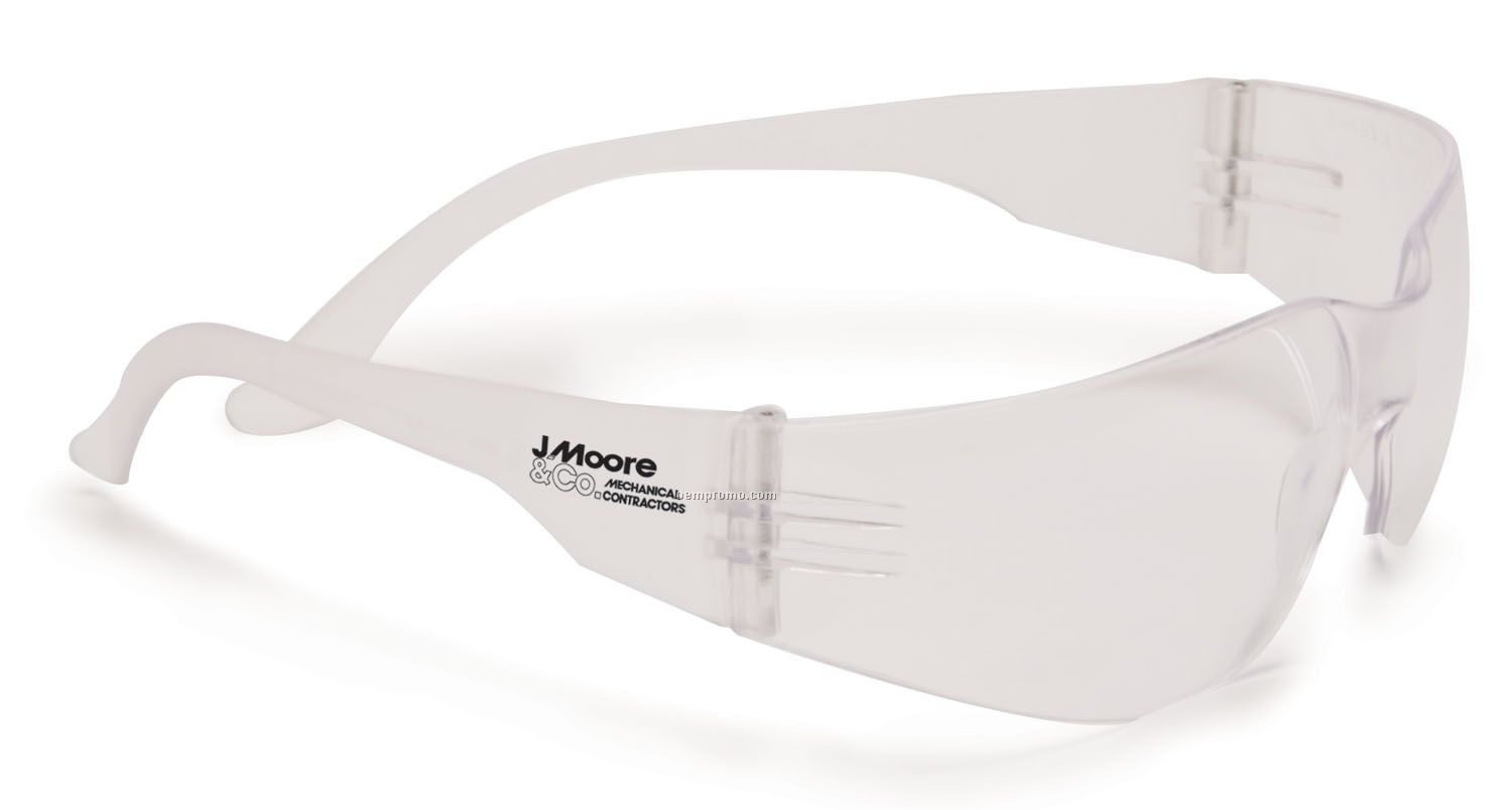 Wrap Around Safety Glasses - Clear Lens