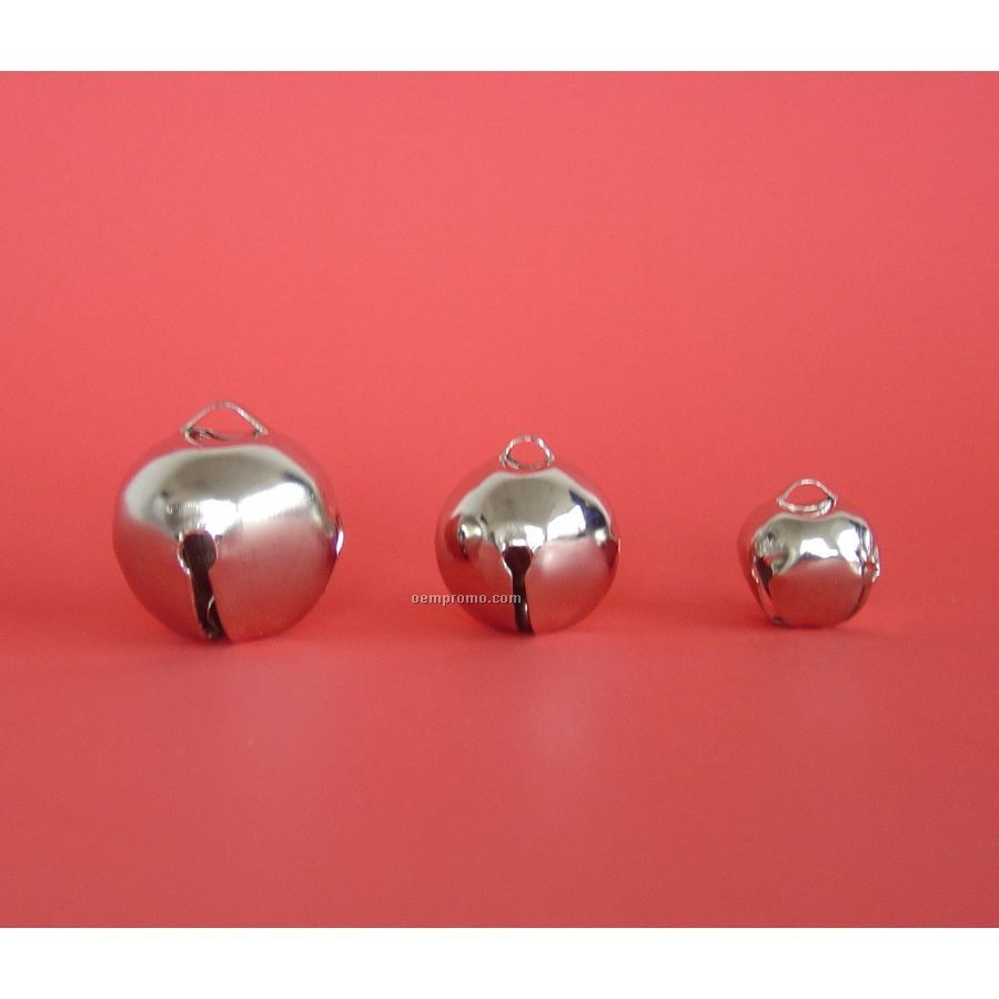 """1"""" Nickel Silver Round Jingle Bell"""