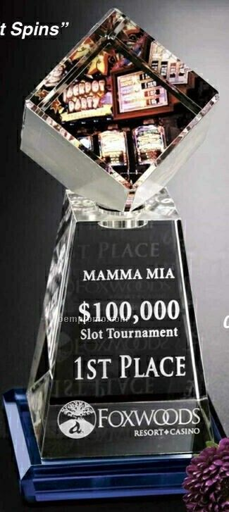 "Awards In Motion Spinning Crystal Andover Award (8 1/2"")"