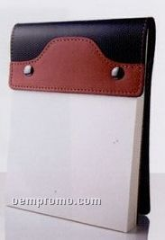 Essential 2-tone Series Small Leather Note Pad Holder