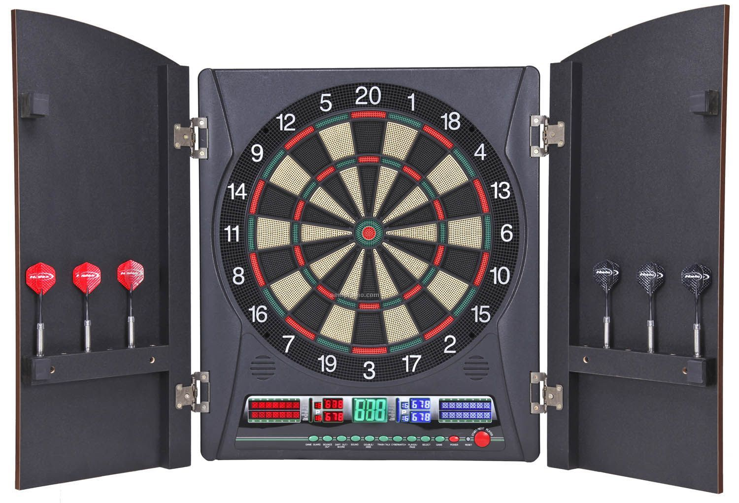 Electronic Dart Boards With Cabinet Dart Board w/ Cabinet