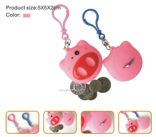 Pig Small Pure And Key Chain