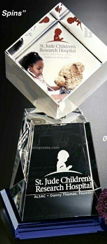 "Awards In Motion Spinning Crystal Andover Award (10"")"