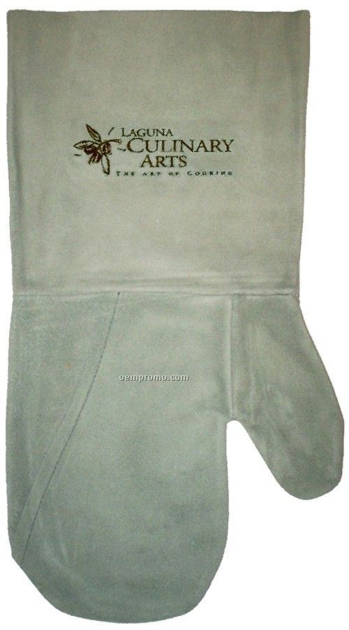 Suede Mitt, Laser Engraved, Washable (Sage)