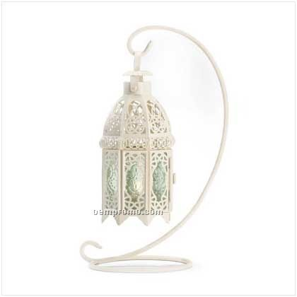 White Fancy Candle Lantern