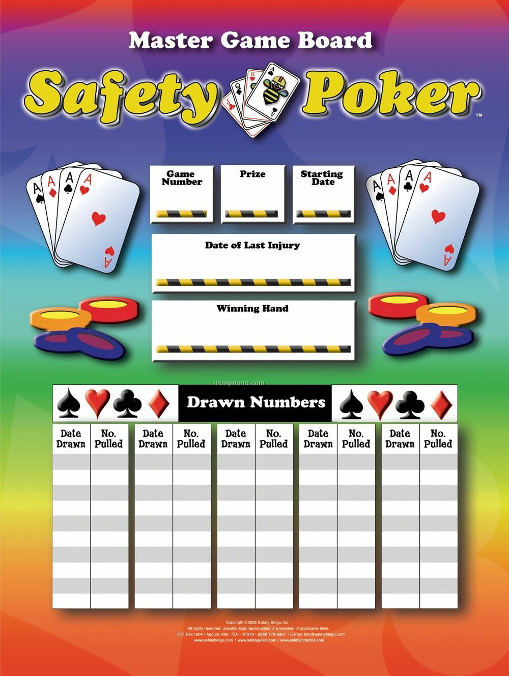 Safety Poker Or Custom Games & Boards