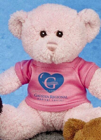 "10"" Pink Bear Stuffed Animal"