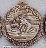 "2.5"" Stock Cast Medallion (Wrestling 2)"