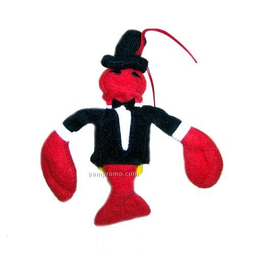 "3"" Custom Lobster Finger Puppet"