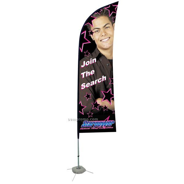8' Blade Sail Sign Single Sided Banner Kit