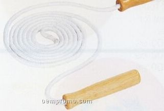 Cotton Jump Rope With Wood Handles (7')