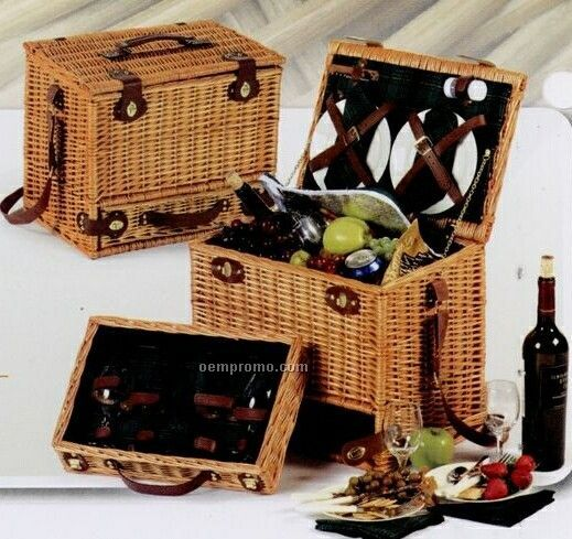 Picnic Plus Mirabel 4 Person Hand Woven Picnic Basket