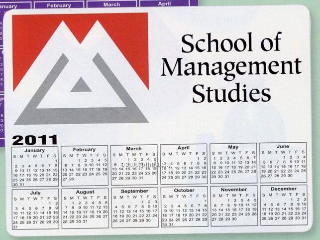 Rectangle Calendar Magnet