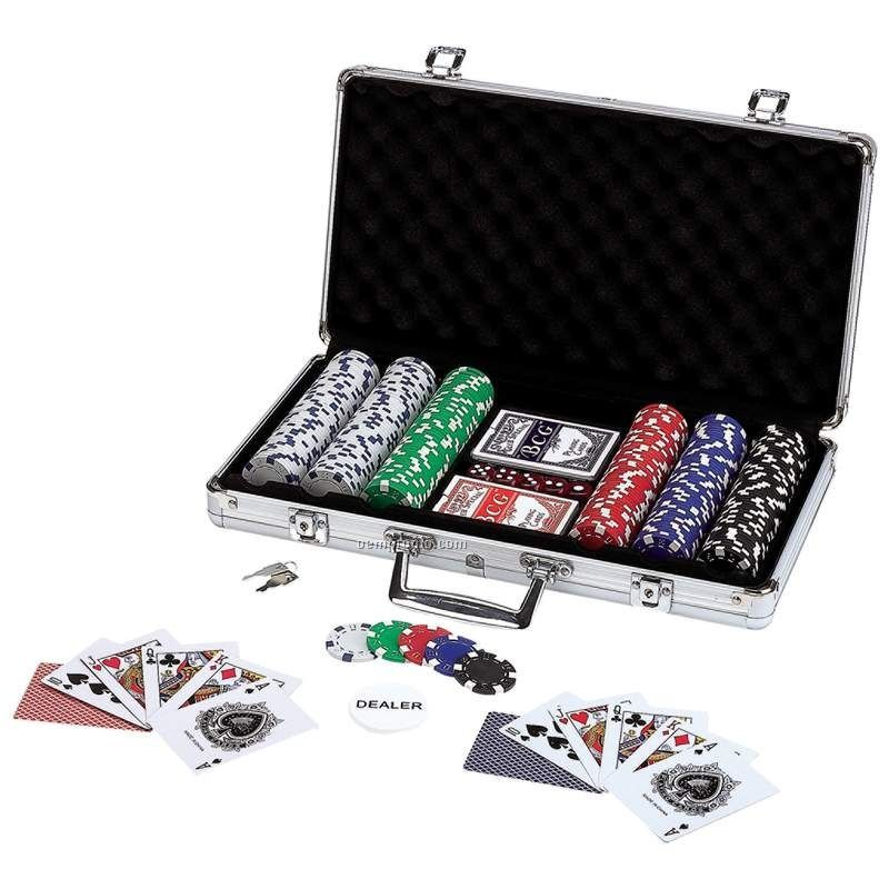309 Piece Poker Chip Set In Aluminum Case