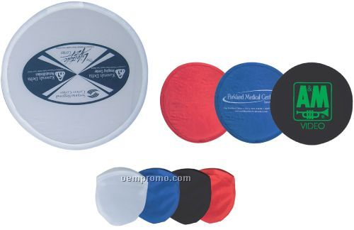 "9"" Foldable Frisbee With Matching Color Pouch, 9"" Foldable Flying Disc"