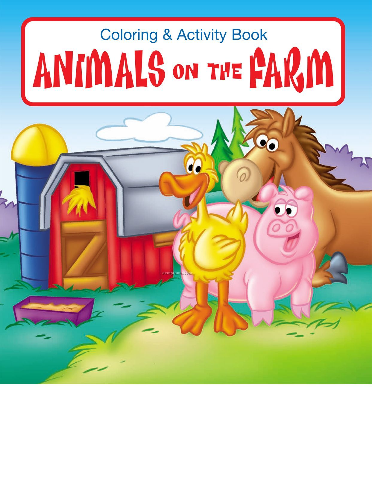Animals On The Farm Coloring Book