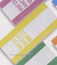 "Pre Glued Aba Currency Bands 2-3/4""X1-1/4"" ($1000.00 Volume)"