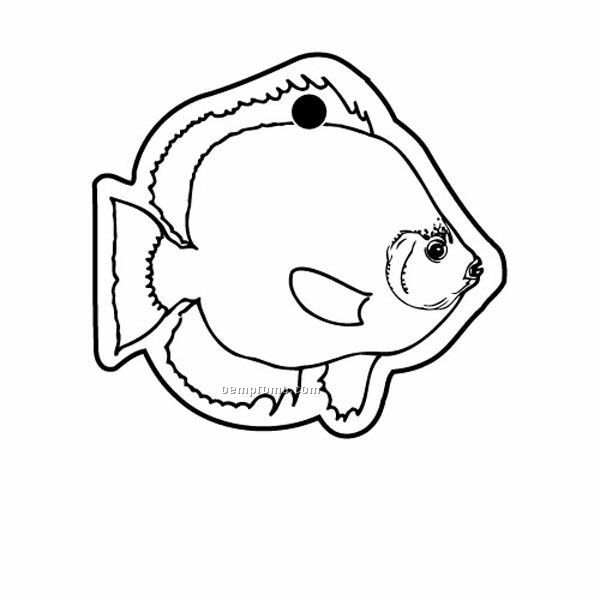Stock Shape Collection Fish 2 Key Tag