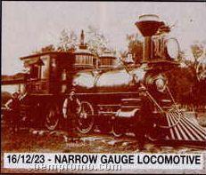 "11""X14"" Early American Tin Type Print - Narrow Gauge Locomotive"