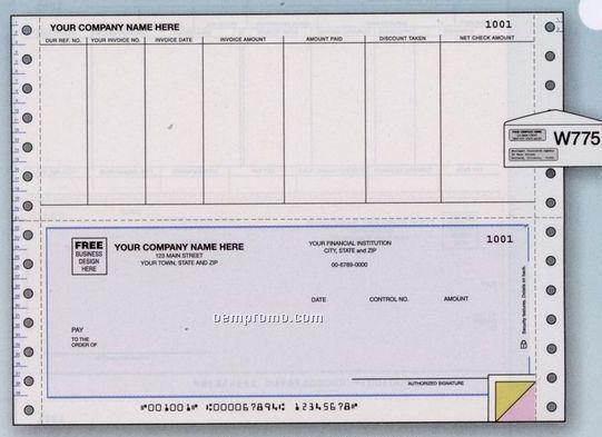 Accounts Payable Check - Continuous (2 Part)