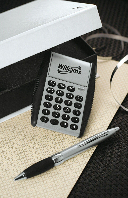 Auto open flipper calculator retractable metal pen w for Custom home calculator