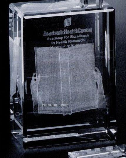 "Crystal 3d Gallery Rectangle Cube Award (7""X4 5/8""X3 1/8"")"